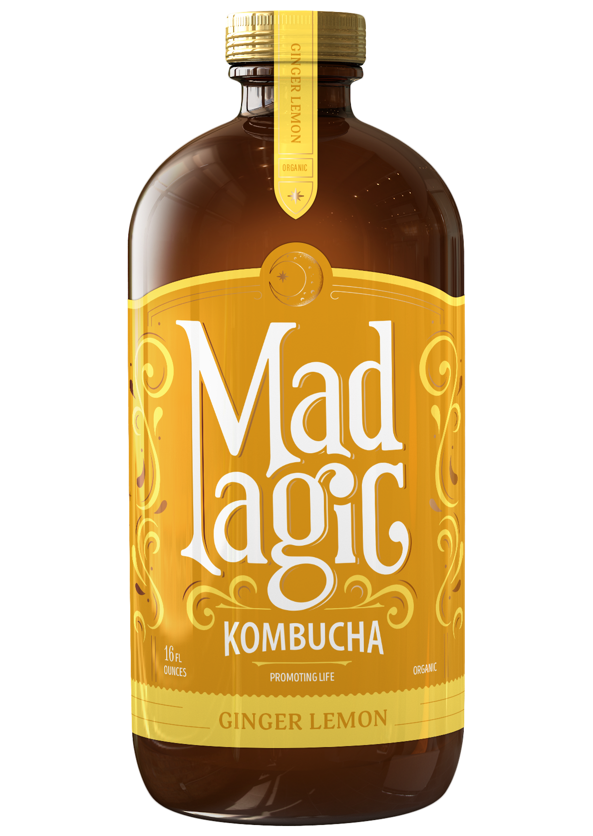 Mad Magic Ginger Lemon Kombucha
