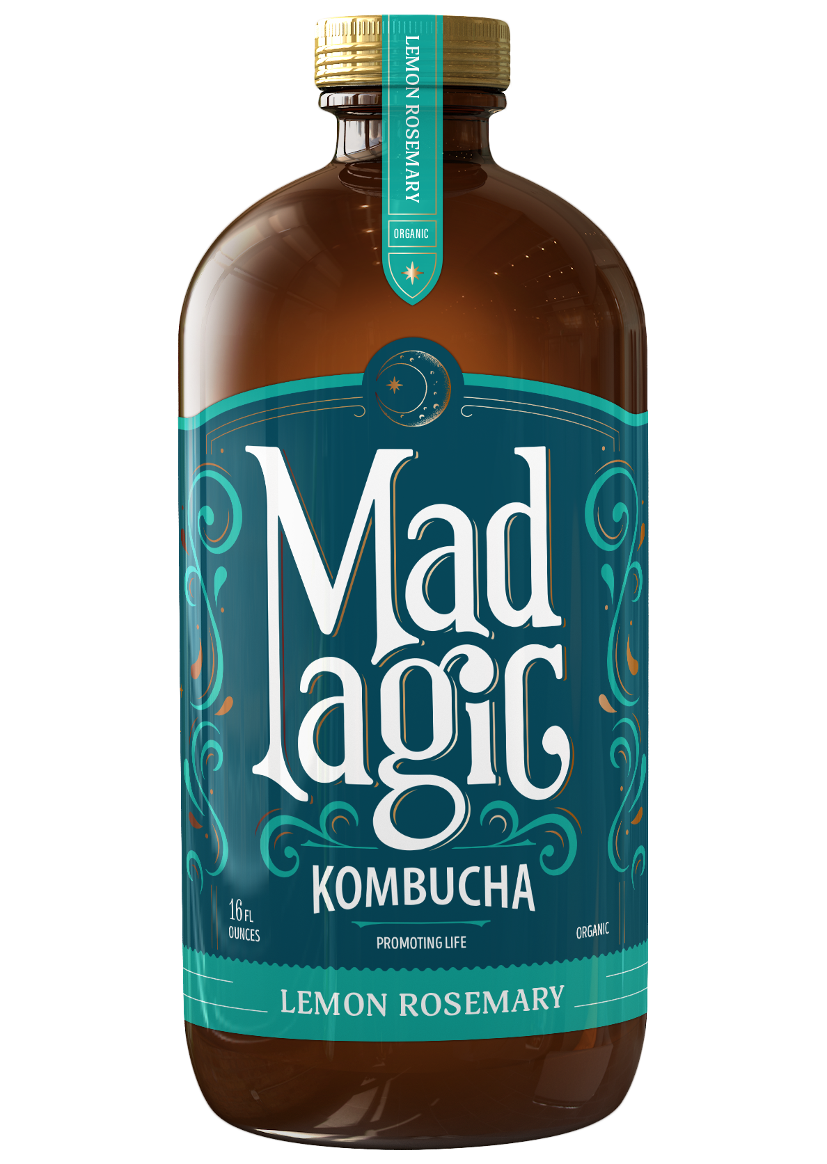Mad Magic Lemon Rosemary Kombucha