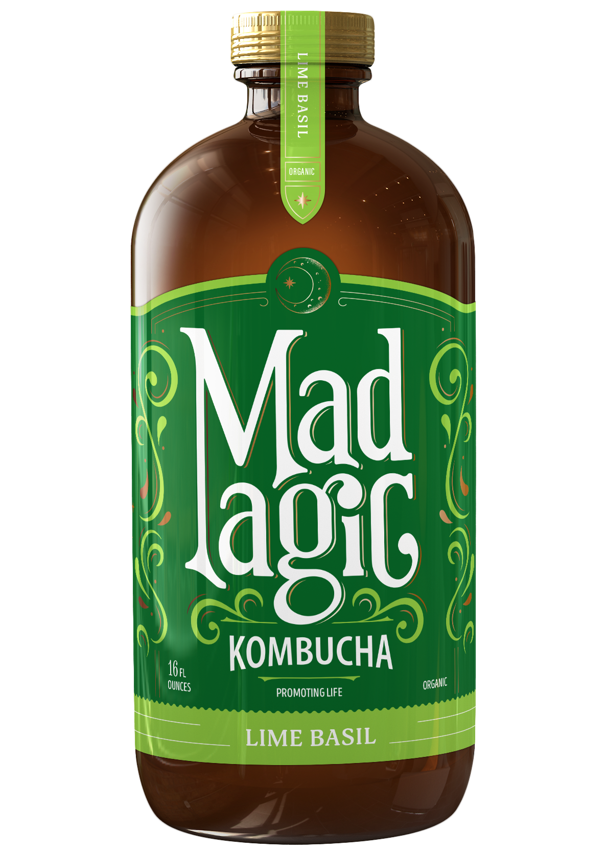 Mad Magic Lime Basil Kombucha