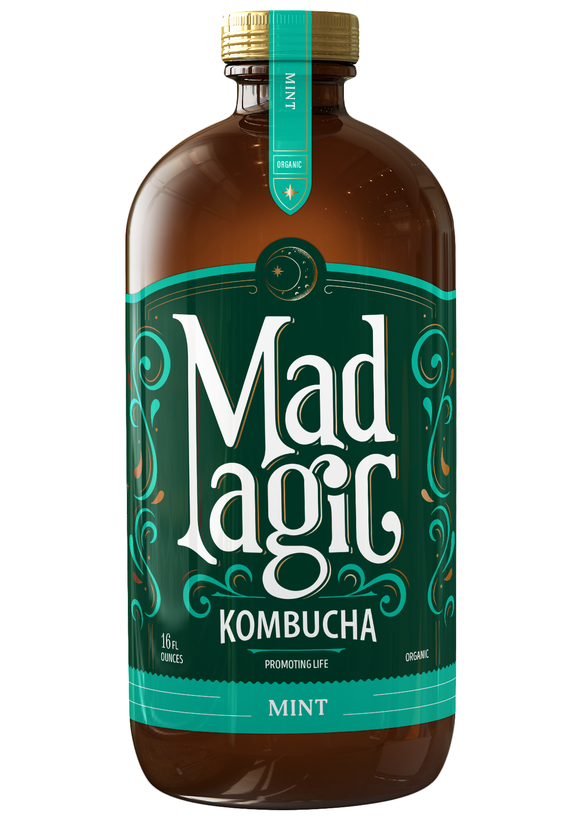 Mad Magic Mint Kombucha